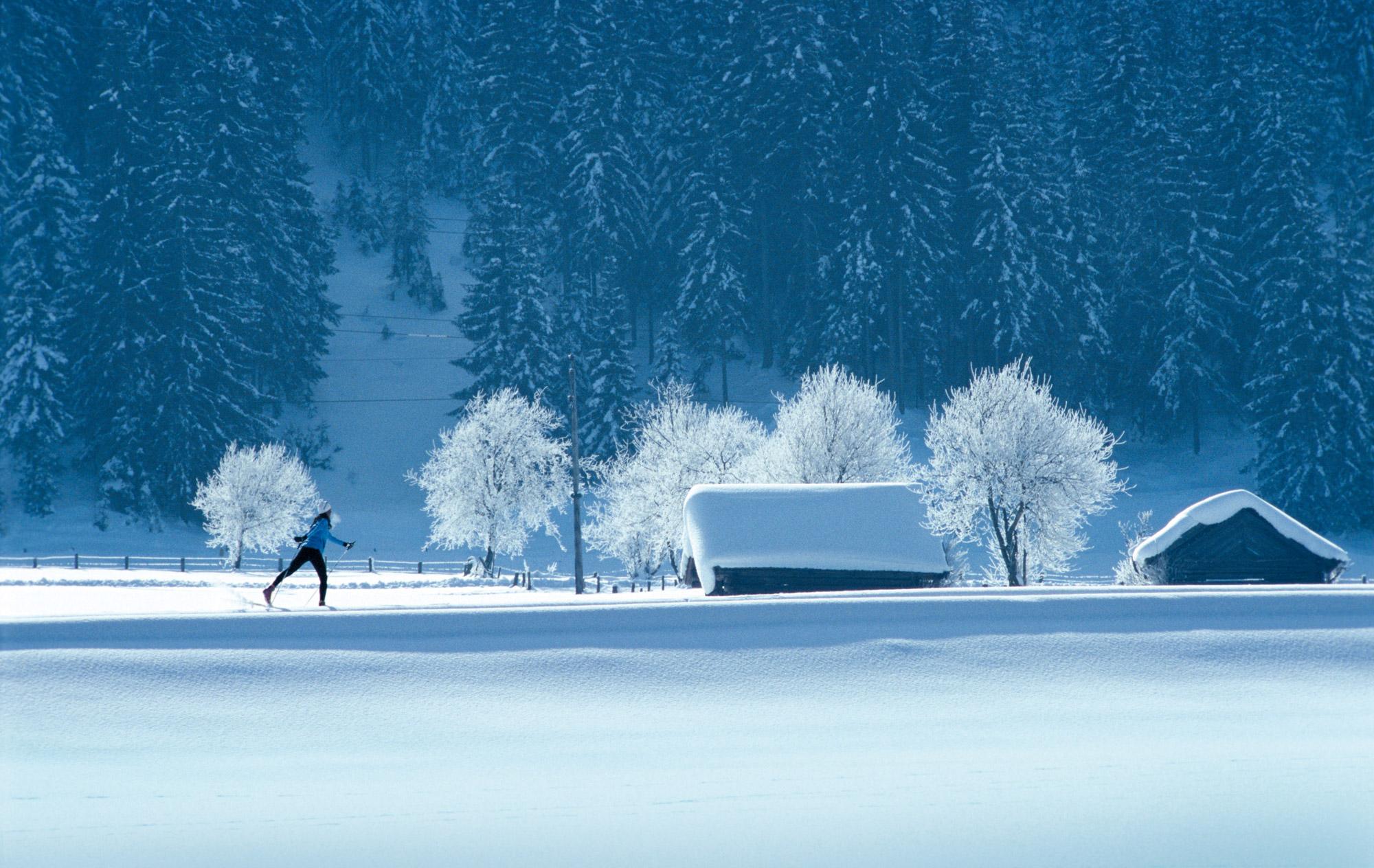 Ski de fond autour de l'hôtel restaurant Le Tillau, Pontarlier, Vallorbe