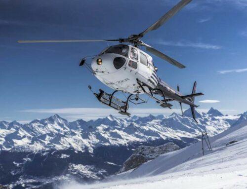 Les Alpes depuis le Tillau en hélicoptère !