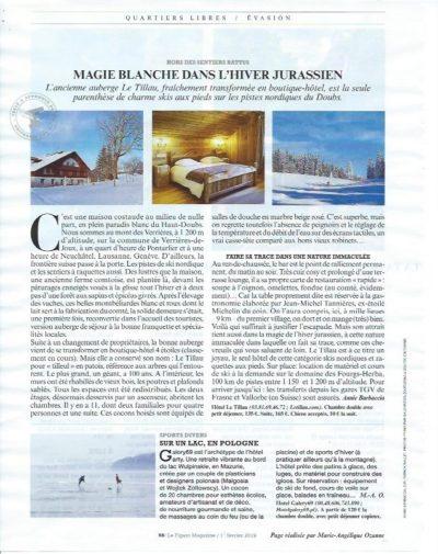 Le Tillau mis à l'honneur dans Le Figaro Magazine