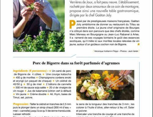 La recette du chef Gaëtan Joly, par l'Esprit Comtois