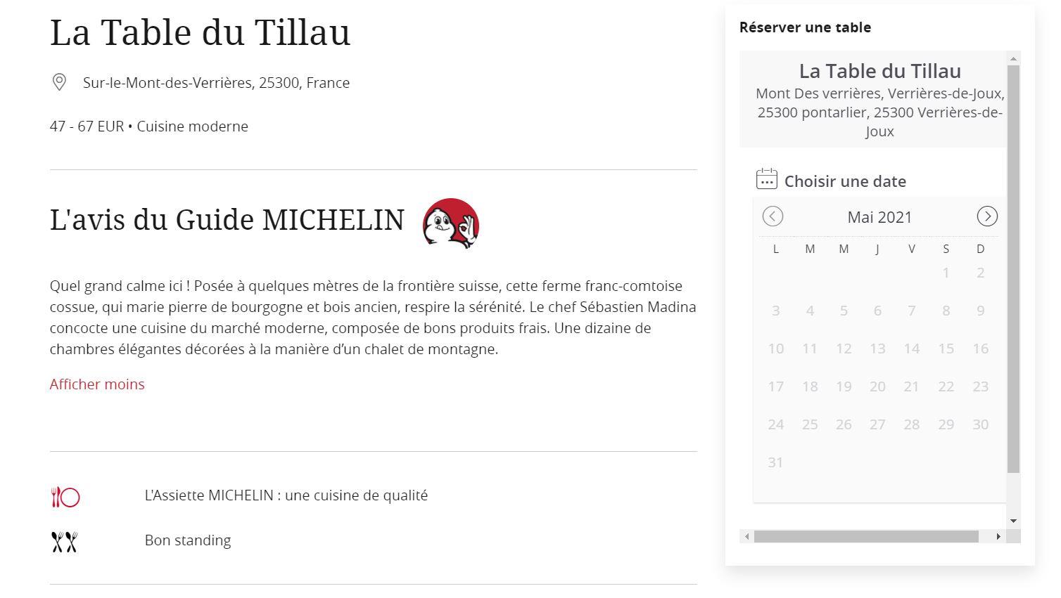 Critique Guide Michelin